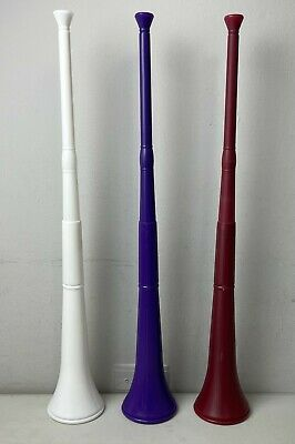 Great for Soccer and Other Sports! Collapsible Blue Plastic Vuvuzela Stadium Horn