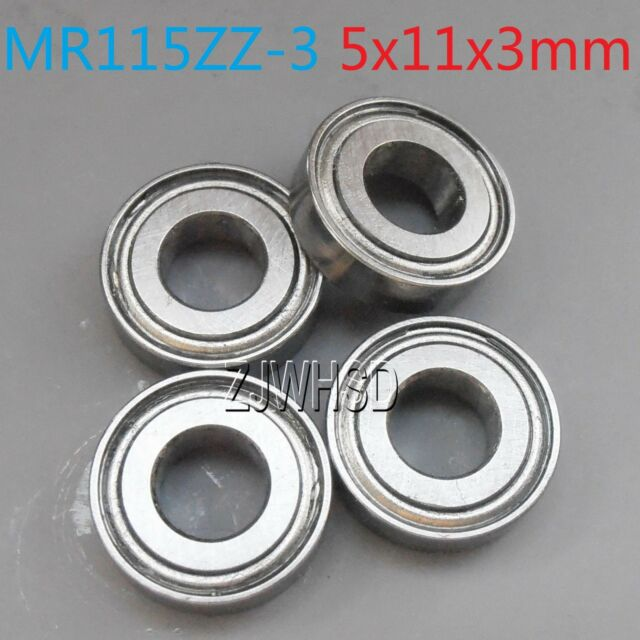 4pcs MR115zz-3 Sealed Bearing ID: 5 OD: 11 W: 3 mm for TAMIYA TRAXXAS ALIGN DIY