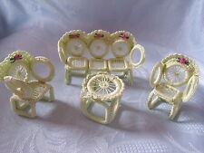 mega süßes Miniaturen Gartenmöbel Terassenmöbel 1: 12 Handarbeit