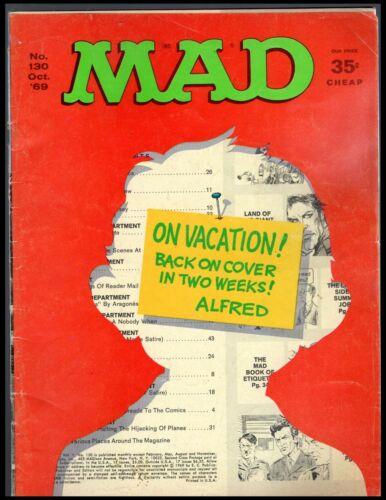 MAD MAGAZINE #130 G  1969 EC FREE SHIPPING ON $15 ORDER!