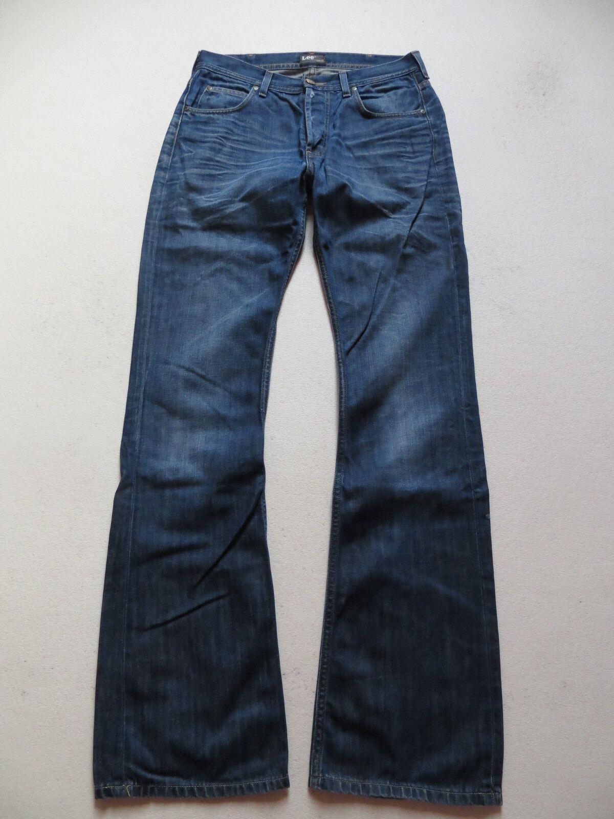 LEE Denver Schlag Jeans Hose, W 33  L 36, Flare Leg Vintage Denim, Extra Lang