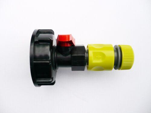 zu Pp Kugelventil /& Anklemmen Steckverbinder C//W Ibc Adapter S60x6