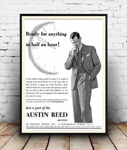 Ready For Anything Austin Reed Old Gents Tailors Advert Poster Reproduction Ebay