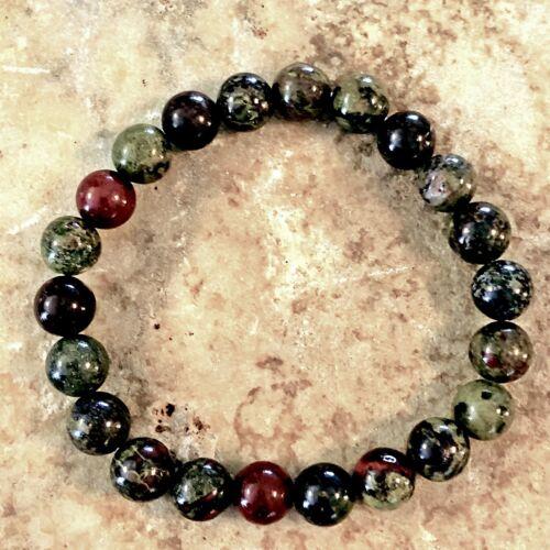 Men's DRAGON BLOODSTONE Bracelet AAA Grade Natural Stone Healing Crystal