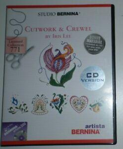 Bernina-Cutwork-amp-Crewel-771-Artista-200-Embroidery-Designs-CD-by-Iris-Lee