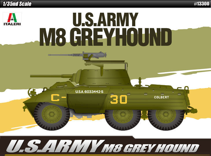 1 35 U.S.ARMY M8 GREYHOUND ACADEMY HOBBY KITS