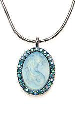 KIRKS FOLLY LORELEI DIVA MERMAID NECKLACE   silvertone / blue zircon