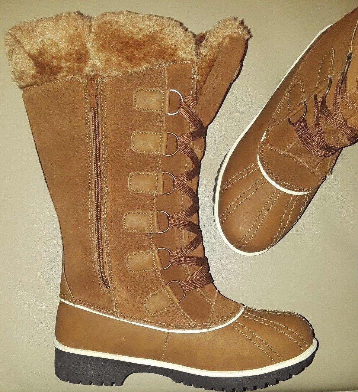 23B Women Brown Faux Fur Boot Size 10 Medium