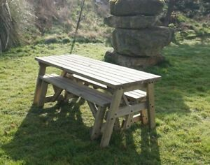 Image Is Loading VICTORIA COMPACT Picnic Table Amp Bench 3FT To