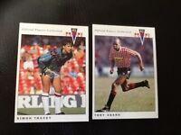 PANINI 92 (1992) football trading cards SHEFFIELD UNITED X 2 PLAYERS TONY AGANA