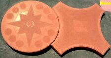 Coppia Stampi cemento matrice Forma pavimento fai da te Finta pietra carrabile