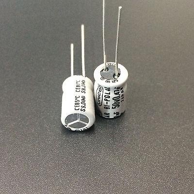 200 pcs 0.47uF 50V Nichicon Miniature Electrolytic Capacitors 4x7mm