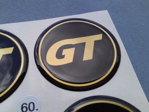 4x GT emblemi COPRIMOZZO PER CERCHIONI COPERCHIO 60mm in Silicone Adesivo gt60sg