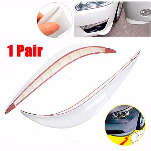 Decor Silicone White Carbon Fiber Side Sewn Side Lip Guard Splitter Spoiler Car