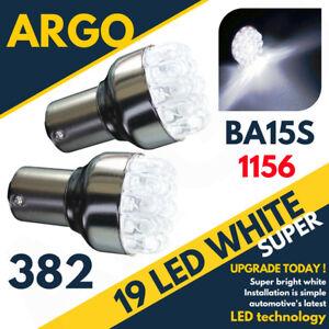 2-X-Led-Ultra-Brillante-19-Blanco-382-P21W-BA15S-1156-Trasero-Marcha-atras-Reversa-Bombillas