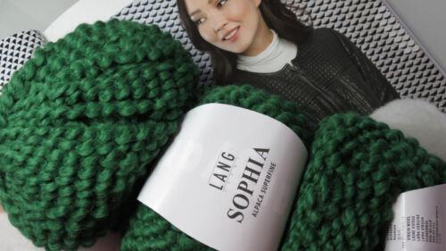 1 kg Wolle Lang Yarns SOPHIA Baby Alpaka Merino Bougle Waldgrün Grün Smaragd