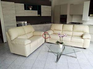 divano divani imbottito 2 posti + 3 posti in ecopelle pelle ...