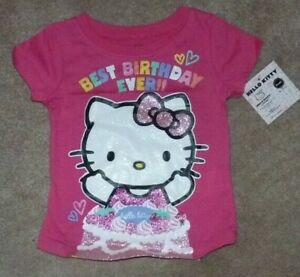 Image Is Loading NEW HELLO KITTY Happy Birthday T Shirt 2T