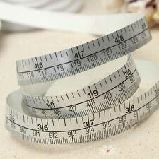 150cm Vinyl Silver Self Adhesive Measuring Tape Ruler Sticker Sewing  LACA