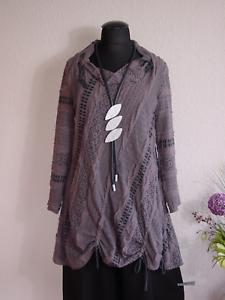 Absolut by Zebra° Edle Lagenlook Tunika Kleid Raffbänder  AltRosa  3
