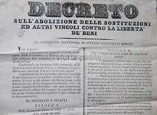 GIURIDICA_NOTARIATO_LIBERTA' DEI BENI_SUCCESSIONI_USUFRUTTO_ANTICO DECRETO_1849