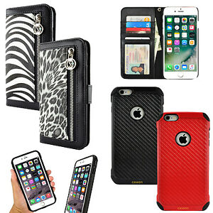 brand new 7dea4 ba4fd Details about For Apple iPhone 6 / 6S 7 Plus Luxury Animal Print Purse Card  Wallet Case Cover