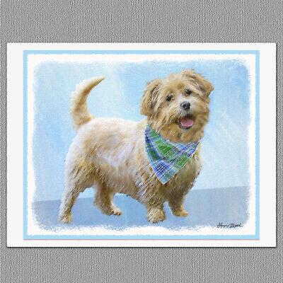 6 Tibetan Terrier Puppy Dog Blank Art Note Greeting Cards