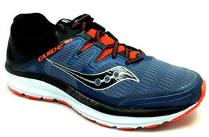6f119e9ce8ad Details about Saucony Guide ISO Men s Running Shoe Grey Black Orange  S20415-5 Size 9.5