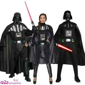 Adulte Homme Femme Dark Vador Star Wars Cosplay Sci Fi Film Fancy Dress Costume-afficher Le Titre D'origine