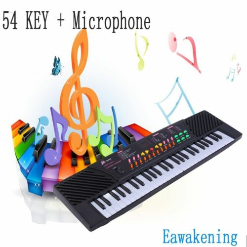 54 Keys Music Electronic Keyboard Electric Piano Key Board US Stock & Mic