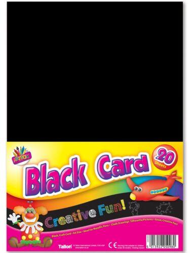 15 x A4 SheetsBLACK CARD 160gsmArt box Activity High Quality Craft School