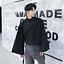Men/'s Korean Style Solid Color Long Trumpet Sleeves Shirt Single Breasted Chic
