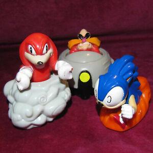 Bundle Of 3 Sonic The Hedgehog Robotnik Knuckles Mcdonalds 1993