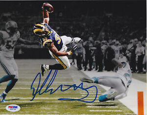 d400e217c Todd Gurley Signed 8x10 St. Louis Rams Photo - Leap TD Stylized PSA ...