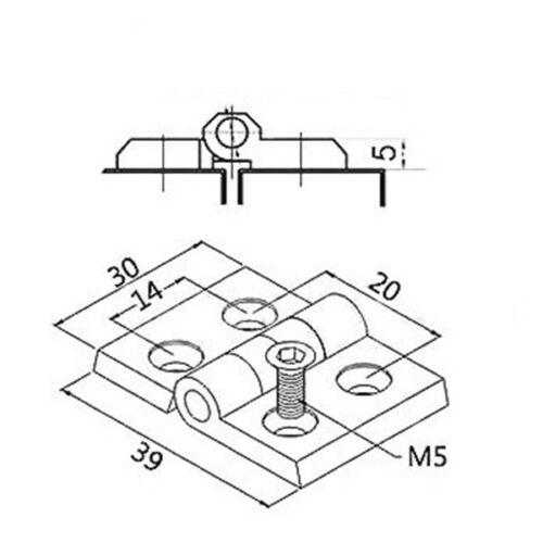 Aluminium T-SLOT profil Accessoires charnières pour 2020 Aluminium Profil cadre