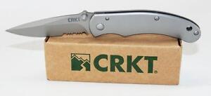 CRKT-Navajo-Pocket-Knife-Stainless-Handle-Combo-Edge-6012CM-6012