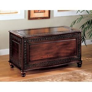 living room storage hope chest cedar trunk bench blanket large wooden stunning ebay. Black Bedroom Furniture Sets. Home Design Ideas