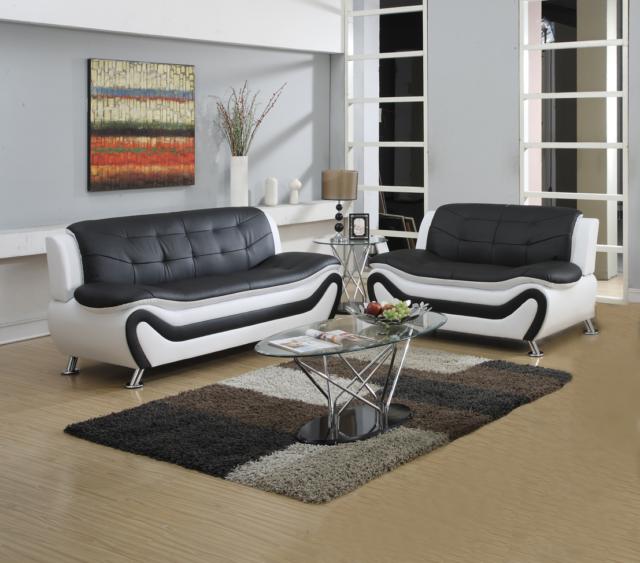 Espresso Finish Leather Color 2p Sofa Set Living Room Furniture Sofa Loveseat For Sale Online Ebay