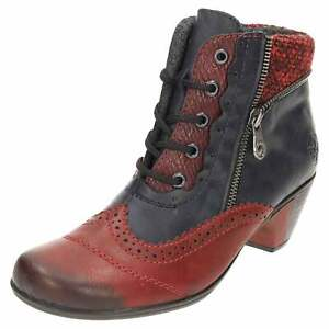 dirt cheap hot products sale retailer Rieker Lace Up Low Heel Knitted Ankle Boots Y7211-35 Zip Victorian ...