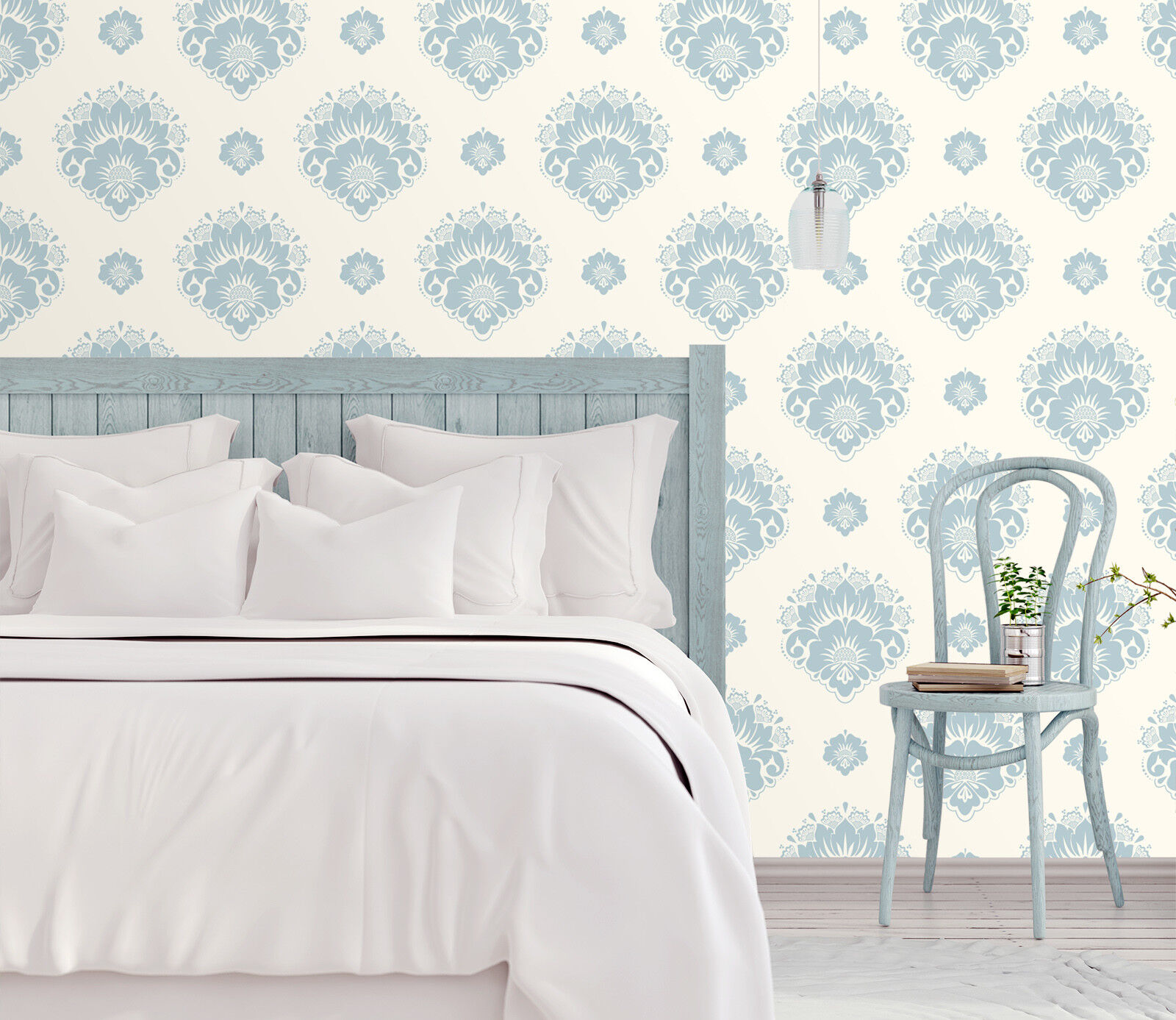 3D Blau Floral Art 255 Wallpaper Mural Print Wall Indoor Wallpaper Murals UK