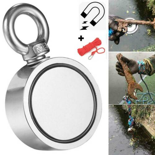 300//400//500//600KG Recovery Magnet Fishing Treasure Metal Detector with 10M Rope