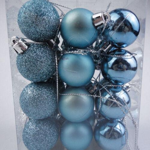 24PCS 3cm Christmas Xmas Tree Ball Bauble Hanging Party Ornament Decor CAD