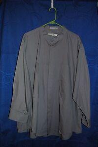 Details about D'AMANTE Gray Button Down Dress Shirt Size 20