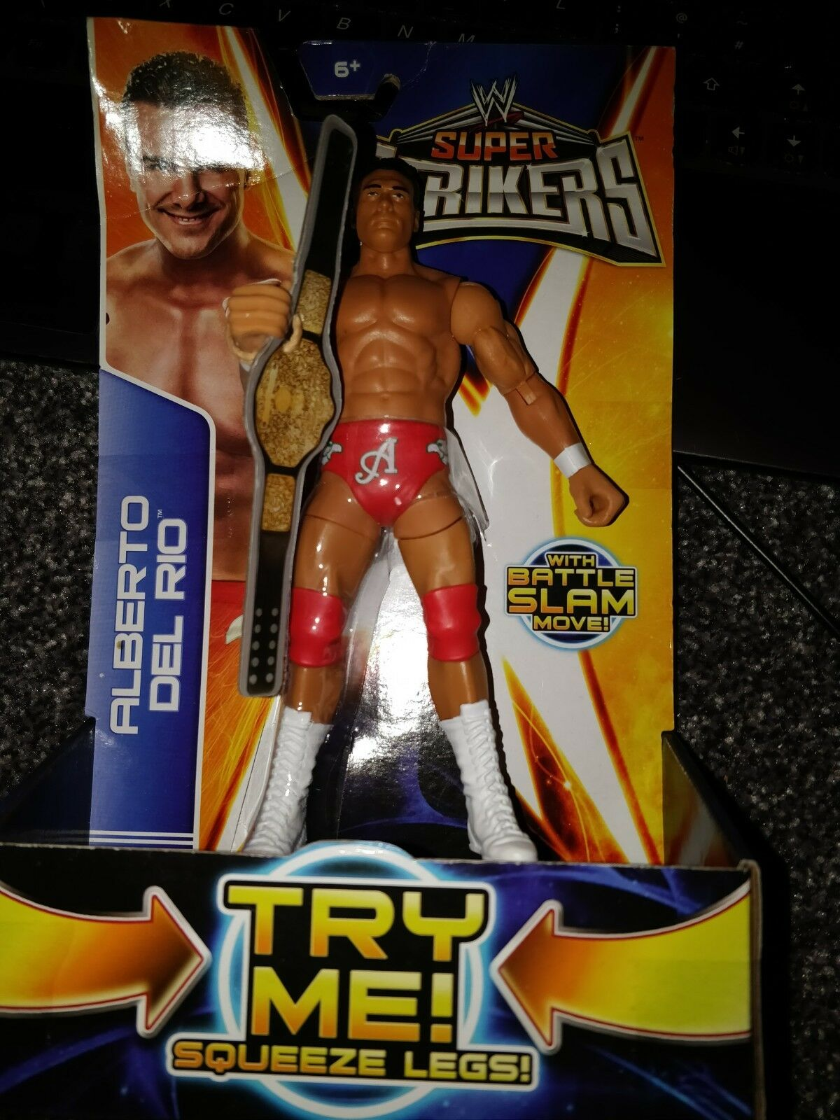 ALBERTO DEL RIO WWE FIGURE SUPER STRIKERS RARE NEW SEALED
