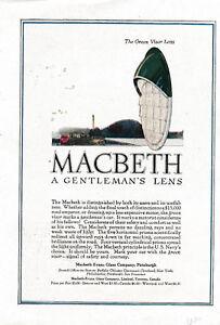 1920-The-Green-Visor-Lens-Macbeth-Evans-Glass-Co-Gentleman-039-s-Lens-House-of-Brick