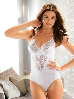 S32c Women White Lace Body Briefer  Bodysuit  Size 12 14 16 18 20 22 Suit Bridal