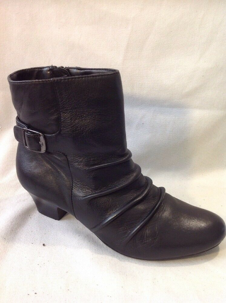 Lotus Black Ankle Leather Boots Size 37