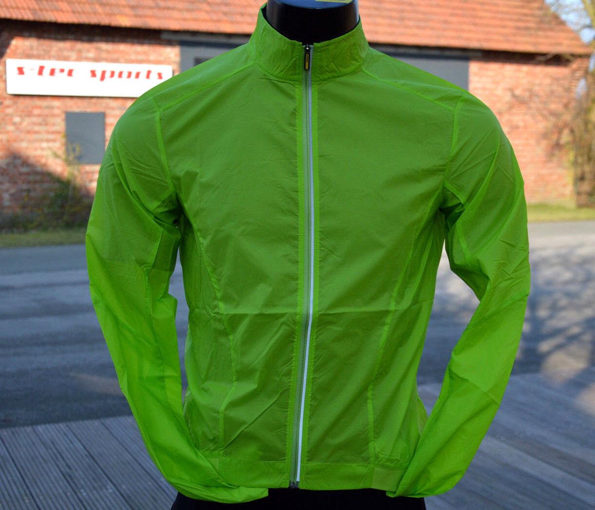 Mavic Essential leichte Fahrrad Windschutz Jacke regenabweisend Lime Grün %%%