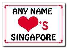 Love Heart Singapore Personalised Jumbo Magnet