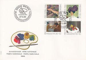 Schweiz-FDC-Ersttagsbrief-1986-Schaetze-aus-Museen-Mi-Nr-1317-20